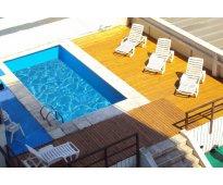 Dptos para 3,4,5,6 pers a  5 c/del mar en pleno centro. piscina clim y desayuno...