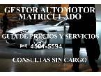 GESTOR AUTOMOTOR MATRICULADO–CONSULTAS SIN CARGO