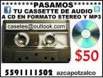 Grabamos tus cassettes viejos a cd