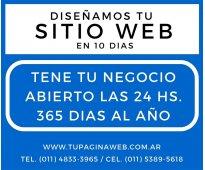 Se te complica internet??? tené tu sitio web en 10 dias!!!!!