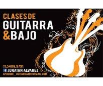 Clases de guitarra y bajo en San Telmo!