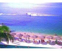Sobre la playa departamento en acapulco **con playa** alberca y vista al mar