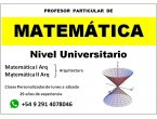 Clases particulares de matemática nivel universitario, a domicilio en bahía blan...
