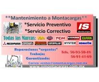 Reparación y servicio a montacargas