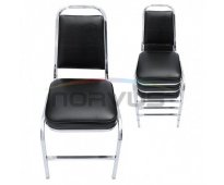 Venta de sillas apilables acojinadas modelo clasica acabado en cromo para alquil...
