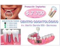 Implantes dentales $ 7.700 (efectivo)