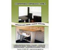 Carpinteria vinka muebles de cocina y oficina- restauraciones diseños exclusivos