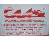 * automobilia c.a.a. * venta de manuales tecnicos del automovil * editados por f...