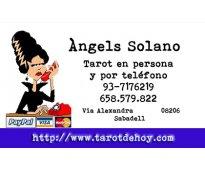 Tarot presencial en Sabadell o por telefono con ANGELS 937176219