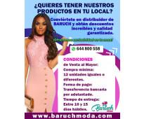 Conviértete en distribuidor de Baruch Moda