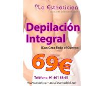 Depilación a 69€ completa para hombres
