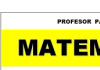 Profesor de Matemática (Contador- Lic Administración UNS)