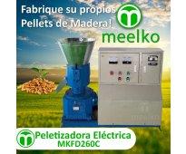 Maquina Meelko para pellets con madera 260 mm eléctrica 300 - 600 kg hora - MKFD...
