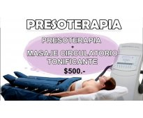 SUPER PROMO!!! PRESOTERAPIA + MASAJE TONIFICANTE EN PALERMO