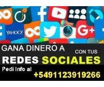 GANA DINERO EXTRA CON TUS REDES SOCIALES