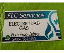 Gas electricidad