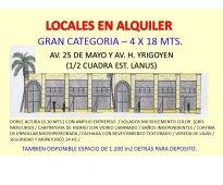 ALQUILO LOCAL EN LA PRINCIPAL AV. COMERCIAL DE LANUS