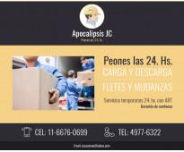 PEONES 24 HS. DESCARGA DE CONTAINER EN LA VIA PUBLICA