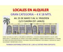IMPONENTE LOCAL EN LA PRINCIPAL AV. COMERCIAL DE LANUS