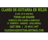 CLASES DE GUITARRA EN WILDE - TODAS LAS EDADES (A mts. de la estacion)