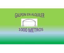 ALQUILO EXCELENTE GALPON PARA ALMACENAR MERCADERIA