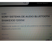 VENDO SISTENA DE AUDIO SONY