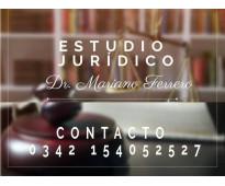 Estudio Jurídico: Dr. Mariano Ferrero.- Mat. Prof. 8055