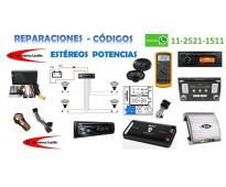 REPARACION DE ESTEREOS / CODIGOS PARA ESTEREOS / AUTORADIO / SERVICIO TECNICO