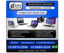 REPARACION DE PC A DOMICILIO - PCS, NOTEBOOK, NETBOOKS, ALL IN ONE - FORMATEOS,...