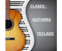 CLASES DE GUITARRA O TECLADO