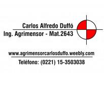 Agrimensor Carlos A. Duffó - Chivilcoy