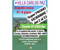 CARLOS PAZ Alquilo CASA para grupos de jovenes