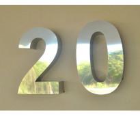 Números para casas en acero inoxidable 3d