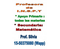 Profesra de matematica dicta clases particulares secundario y apoyo esscolar pri...
