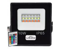 Reflector Color Led Rgb Exterior Control Remoto 10w , 220v