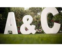 Letras corpóreas en Parque Patricios