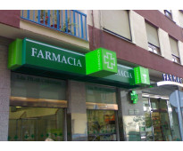 Cruz led farmacias en calle 9 de Julio Lanus