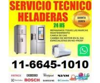 Service heladeras carga gas Whirlpool Patrick Gafa Electrolux Samsung Todas