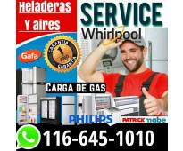 Service heladeras carga gas aire Flores Caballito Almagro