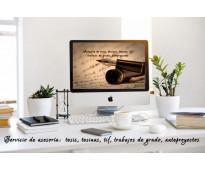 Asesoría de tesis, tesinas, trabajos de grado
