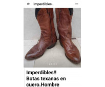 Botas texanas de hombre. cuero legitimo