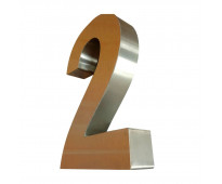 Números de metal para casas