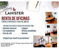 RENTA OFICINA VIRTUAL DESDE $500 MENSUALES