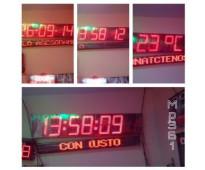 RELOJES ELECTRONICOS A BASE DE LEDS