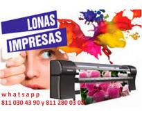 LONAS IMPRESAS Y SELLOS DE GOMA E IMANES PROMOCIONALES MONTERREY