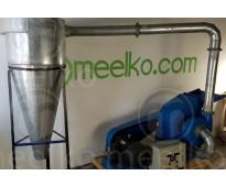 (Carbón) Molino triturador de biomasa a martillo electrico hasta 1500 kg hora -...