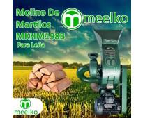 (Leña) Molino triturador de biomasa a martillo eléctrico 360 kg - MKH198B