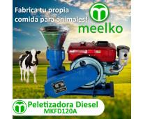 MKFD120A Peletizadora 120 mm 8 hp DIESEL para concentrados balanceados 60-100 kg...