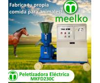 Caballo) Eléctrica 11 kw 300-400 kg/h - Peletizadora 230 mm - MKFD230C