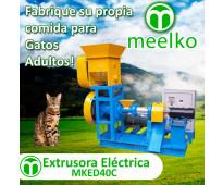 (Gatos) 30-40kg/h 5.5kW - MKED040C Extrusora para pellets alimentación gatos - M...